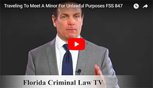 Minor For Unlawful Purposes FSS 847